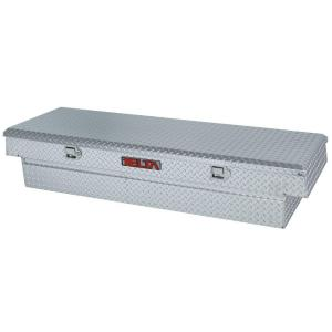 70.125 inch Aluminum Single Lid Full Size Crossover Tool Box in Silver Metallic by