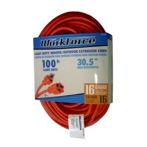 Workforce 100 ft. 16/3 Extension Cord