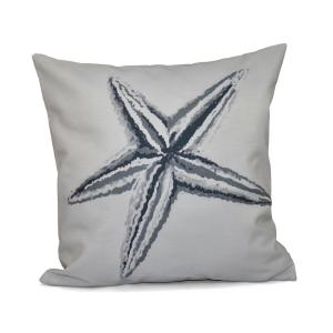 16 inch x 16 inch Starfish Decorative in Grey Pillow by