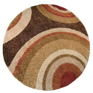 Orian Rugs Eclipse Brown 7 Ft 10 In Round Area Rug