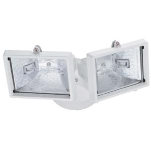 Lithonia Lighting 2-Lamp Outdoor White Floodlight