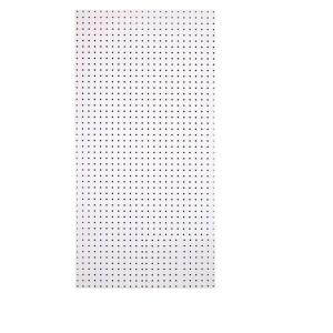Triton 1/4 inch Custom Painted Blissful White Pegboard Wall Organizer with 36-Piece... by