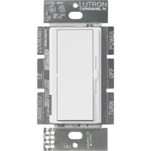 Lutron Diva 8-Amp 0 to 10-Volt 3-Way/Single-Pole Dimmer - White by
