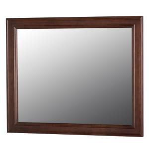 Home Decorators Collection Annakin 31.4 inch W x 25.6 inch H Wall Mirror in Cognac by