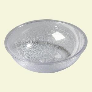 Carlisle 11 qt., 15.87 inch Diameter Polycarbonate Round Display and Serving Bowl in Clear (Case of 4) by