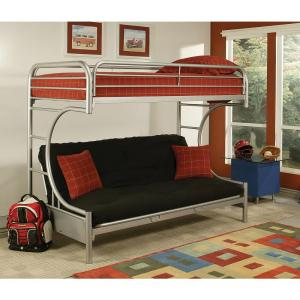 Acme Furniture Eclipse Twin Over Queen Metal Kids Bunk Bed SI