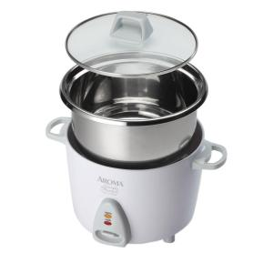 AROMA Simply Stainless 6-Cup Rice Cooker by