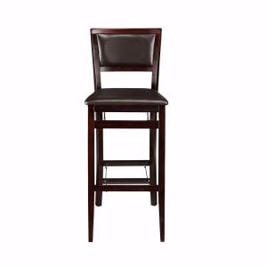 Home Decorators Collection Brown Faux Leather Foldable Bar Stool
