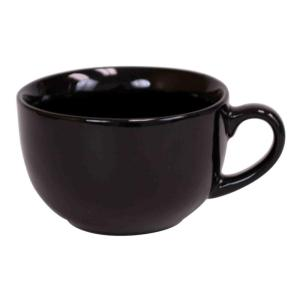 Home Basics 22 oz. Jumbo Ceramic Coffee Mug in Black by Home Basics