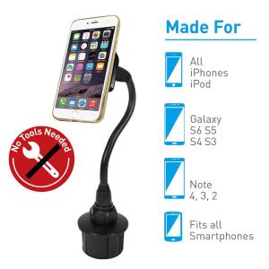 Macally Supper Strong Magnetic Car Cup Holder Mount for iPhone SmartPhone by Macally