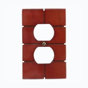 Amerelle Soho 1 Duplex Wall Plate - Brown