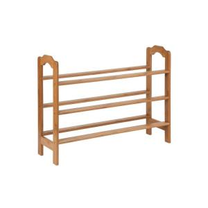 Honey-Can-Do 9-Pair 3-Tier Bamboo Shoe Rack