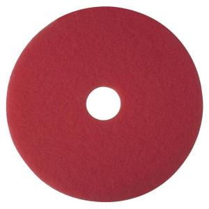 3M 17 inch Red Buffer Pads (5 per Carton) by
