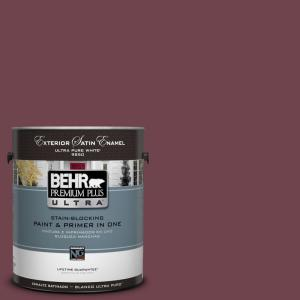 BEHR Premium Plus Ultra 1-Gal. #UL100-3 Formal Maroon Satin Enamel Exterior Paint