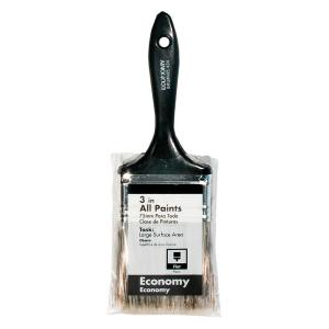Economy 3 in. Flat Utility Brush