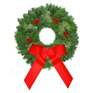The Christmas Tree Company 30 in. Fresh Festive Berry Frost Holiday Wreath