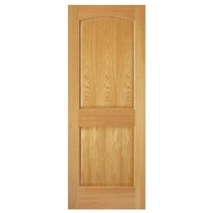 Steves sons 24 in x 80 in 2 panel arch solid core oak interior door slab j64o8nnnac99 the for Solid wood interior doors home depot