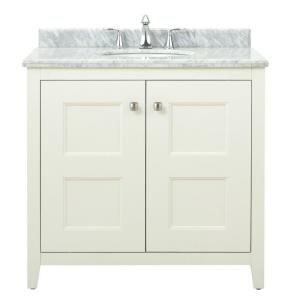 Home decorators collection union square 36 in w vanity in white with natural marble vanity top Home decorators collection 36 vanity