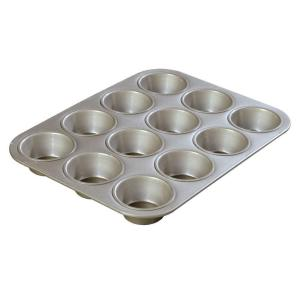 Carlisle Steeluminum 12-Cup Heavy Duty Muffin/Cupcake Pan, 3.50 oz./Cup (Case of 12) by