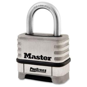 Master Lock ProSeries 2.2 inch Stainless Steel Combination Padlock with 1.06...