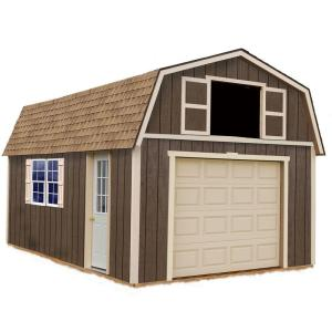 Best Barns Tahoe 12 ft. x 16 ft. Wood Garage Kit without Floor