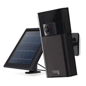 Ring Wireless Outdoor Stick Up Camera with Solar Panel