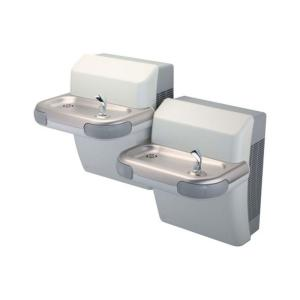 Halsey Taylor Voyager Bi-Level HTV8BL-GF-Q TTG ADA Wall Mounted Drinking Fountain with Glass Filler by