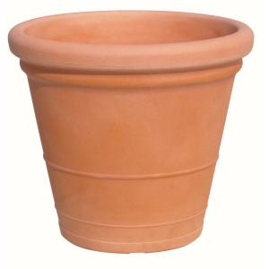 Marchioro 23.5 in. Round Planter Pot Terra Cotta