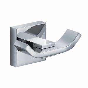 Kraus Aura Bathroom Double Robe Hook in Chrome by