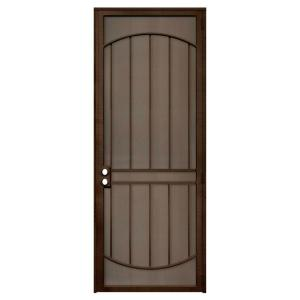 Unique Home Designs Arcada 36 in. x 96 in. Steel Copper Right-Hand Outswing Security Door