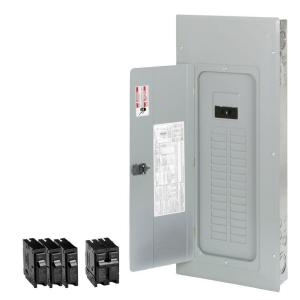 Eaton 200-Amp 30-Space 40-Circuit Type-BR Main Breaker Load Center Value Pack Includes 4 Breakers