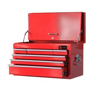 Excel Steel Top Chest, Red, 26.3 in. W x 12.4 in. D x 15.2 in. H, Each