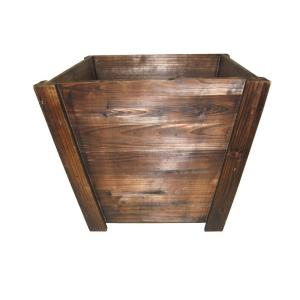 Pennington 16 In Dark Flame Tapered Wood Planter 3 Case