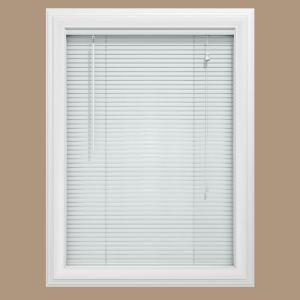 Bali Cut-to-Size White Vinyl Custom Cut Blind 1 in. Slats (Price Varies by Size)