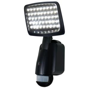 XEPA 160 Degree Outdoor Motion Activated Solar Powered Black LED Security Light