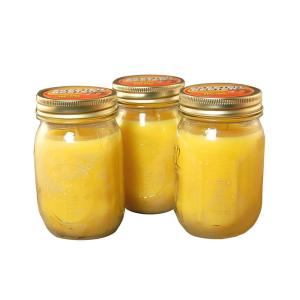 Lumabase 12 oz. Yellow Citronella Mason Jar Candles (3-Count) by