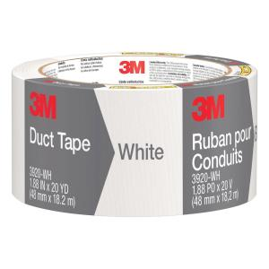 3M 1.88 inch x 20 yds. White Duct Tape (Case of 12) by