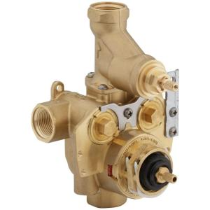 MasterShower 3/4 inch Thermostatic Valve with Integral Volume Control and Stops