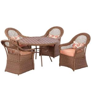 Patio Martha Stewart Sanibel Wicker Dining Set At Home Depot Dining Furniture Outdoor