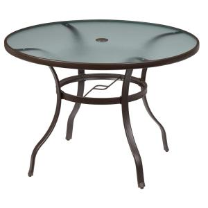 Hampton Bay Mix And Match Round Metal Outdoor Dining Table Fts70575 The Home Depot