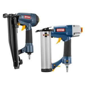 "Ryobi 2.5"" Finish Nailer and 2"" Brad Nailer Combo Kit (YN801K) $59"