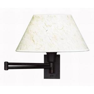 Kenroy Home Simplicity 13 inch Bronze Wall Swing Arm Lamp by