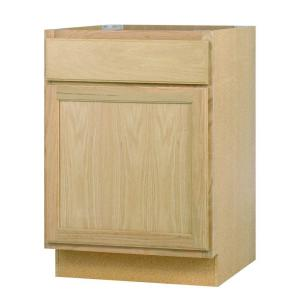 24x34.5x24 in. Base Cabinet in Unfinished Oak-B24OHD - The Home Depot