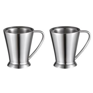 Visol 12 oz. Columbia Double Walled Stainless Steel Coffee Mugs (Set of 2) by Visol