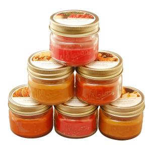 Lumabase 3 oz. Mason Jar Scented Candles- Harvest Collection (set of 6) by