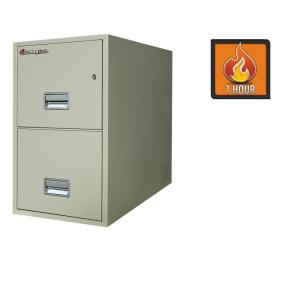 SentrySafe 2-Drawer 31 in. Deep Letter Vertical Fire File in White Glove Delivery