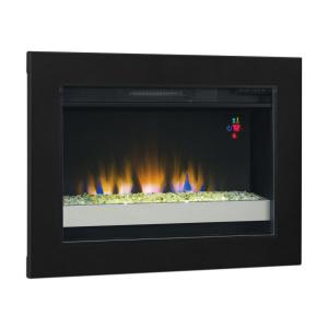 In Contemporary Electric Fireplace Insert 75867 Bb The Home Depot