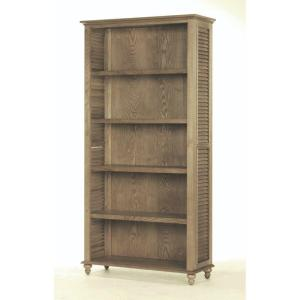 Home Decorators Collection Shutter 5 Shelf Open Bookcase In Weathered Oak 1061100410 The Home