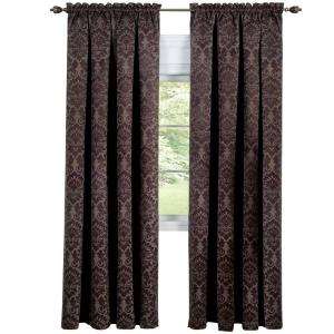 Achim Blackout Sutton Brown Polyester Blackout Curtain Panel 52 inch W x 63 inch L by
