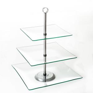 Glass cake stands & tiered cake stands